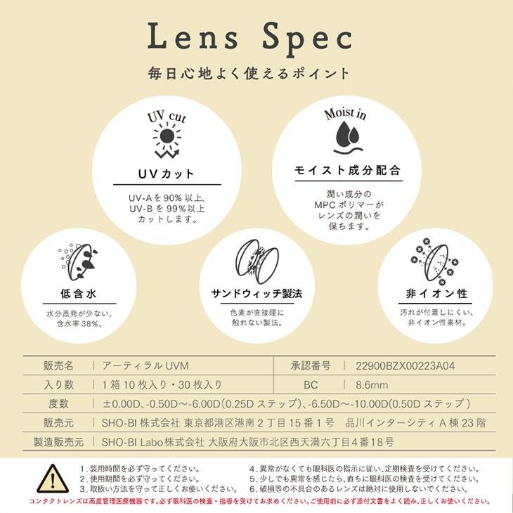 アーティラルUVMイメージモデル松川奈々花さん|毎日心地よく使えるワンデーモイスト成分配合UVカット低含水38%サンドイッチ製法非イオン性