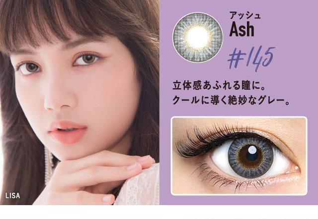 クルームCRUUMブラックピンクBLACKPINK|アッシュDIA14.5mmクールに導く絶妙ばグレーで立体感あふれる瞳に