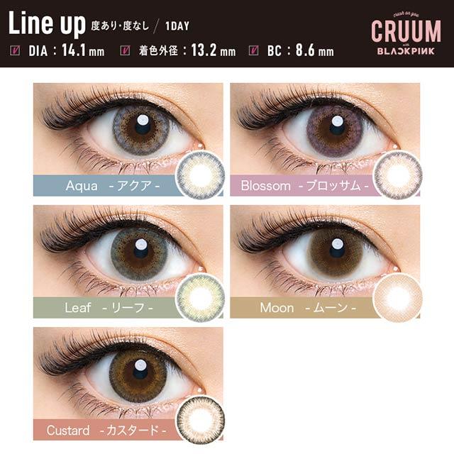 クルームCRUUM,DIA14.1mmの装用レンズ総まとめ比較画像