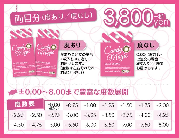 キャンディーマジックアクア全4カラー   ダレノガレ明美イメージモデル1ケ月カラコン