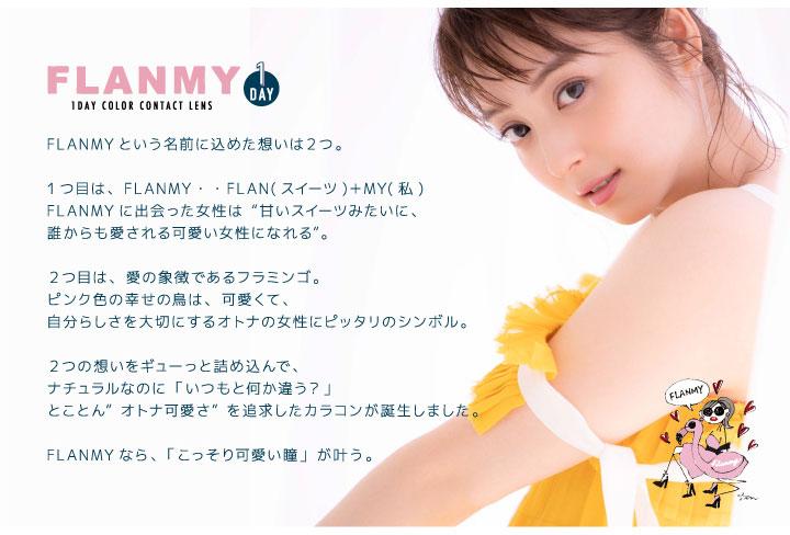 佐々木希イメージモデルのワンデーカラコンフランミー|FLANMY