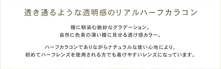 リルムーン韓国人気モデルカンテリ透き通るような透明感リアルハーフカラコン