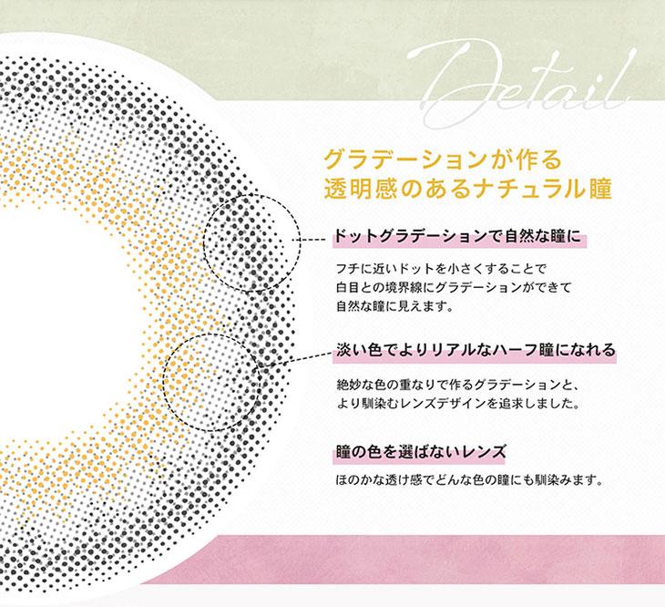 リルムーン韓国人気モデルカンテリ ドットグラデ―ジョンは作る透明感のあるハーフナチュラルな瞳
