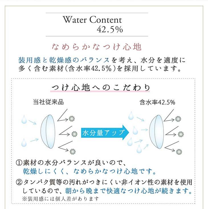 ネオサイトワンデーシエルUV/1day/30枚入/小松菜奈/14.2/シエルワンデー/ネオサイトワンデー/含水率42.5%/なめらかなつけ心地