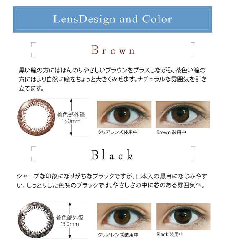 ワンデーアイレリアルUVトーリック|レンズデザイン&カラー