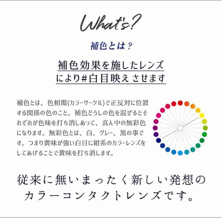 パーツホワイト|補色効果を施したレンズにより白目映えさせます