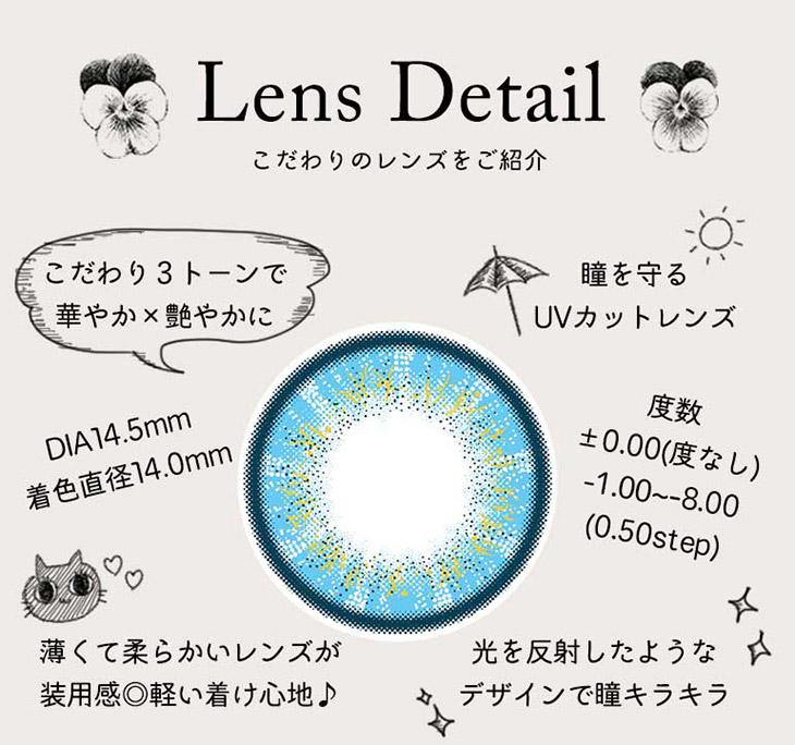 パーフェクトシリーズ フルブルーム,レンズ詳細,こだわり3トーンで華やか×艷やか,瞳を守るUVカットレンズ,薄くて柔らかいレンズで装用感◎