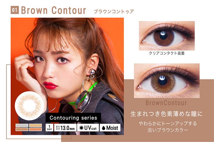 シェリーク,イメージモデルねお,ブラウンコントゥア詳細画像,生まれつき色素薄めな瞳に
