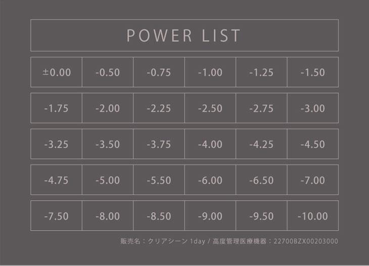 ティアリーアイズ,ワンデー・DIA14.2mm・着色直径13.6mm・BC8.6mm・含水率38.5%,ティアリーアイズ度数表