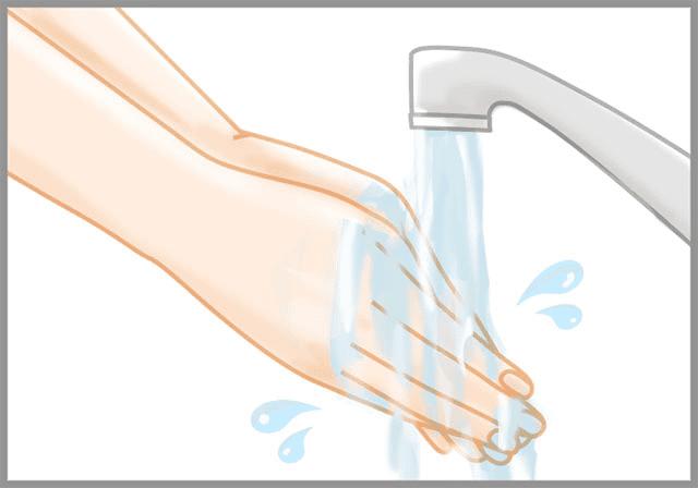 手を清潔にする