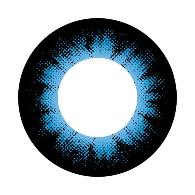 コンタクトフィルムズ 04BL カラーサークルブルー度なし14.0mm(3)