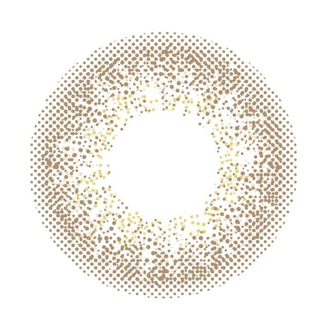 カラコン 新木優子イメージモデルアイジェニック ラスターキャメル レンズ画像