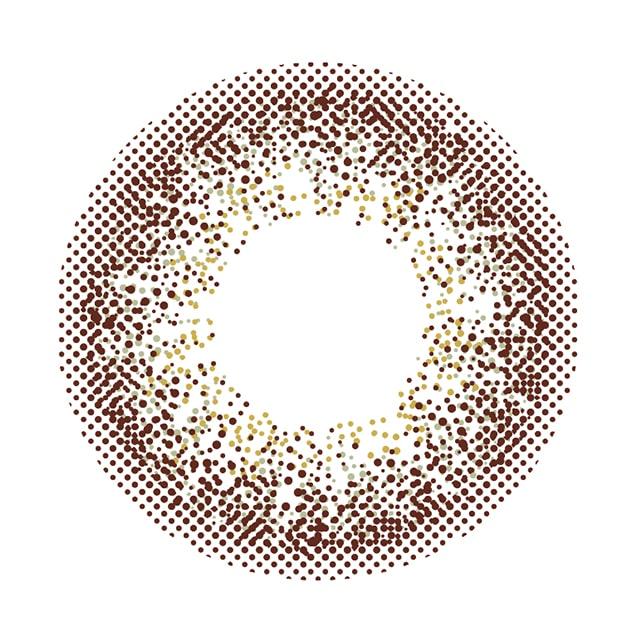 カラコン 新木優子イメージモデルアイジェニック セピアミスト レンズ画像