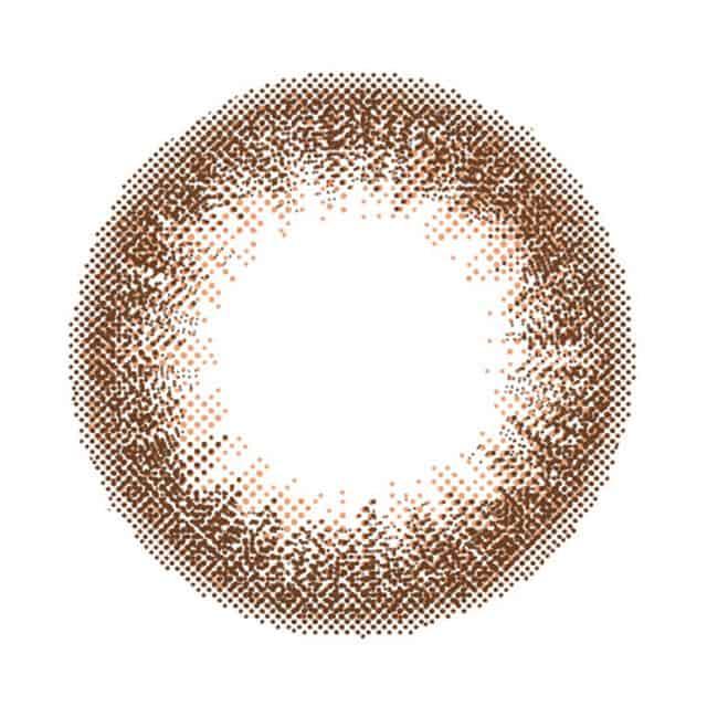 森絵梨佳イメージモデルのワンデー(1day)カラコンルミア(LuMia)14.5のスウィートブラウン(SweetBrown)のレンズ画像