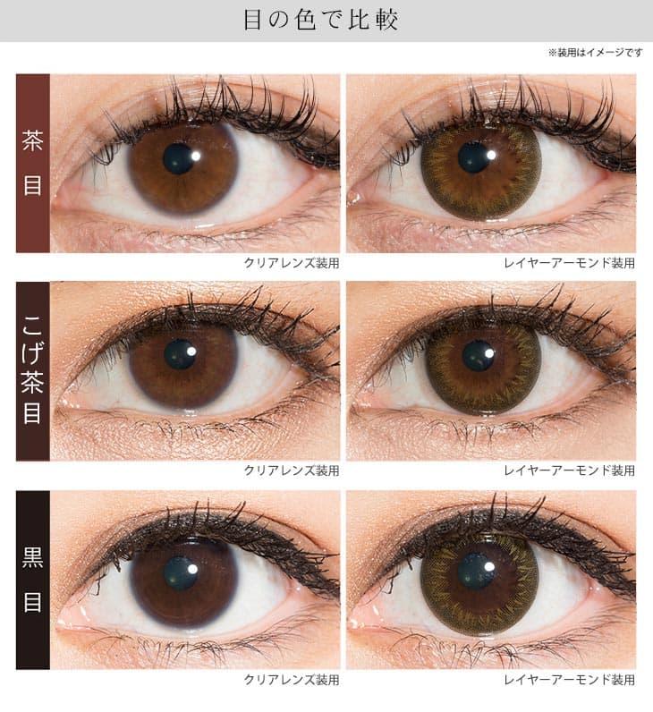 レイヤーアーモンド | 瞳の色で比較