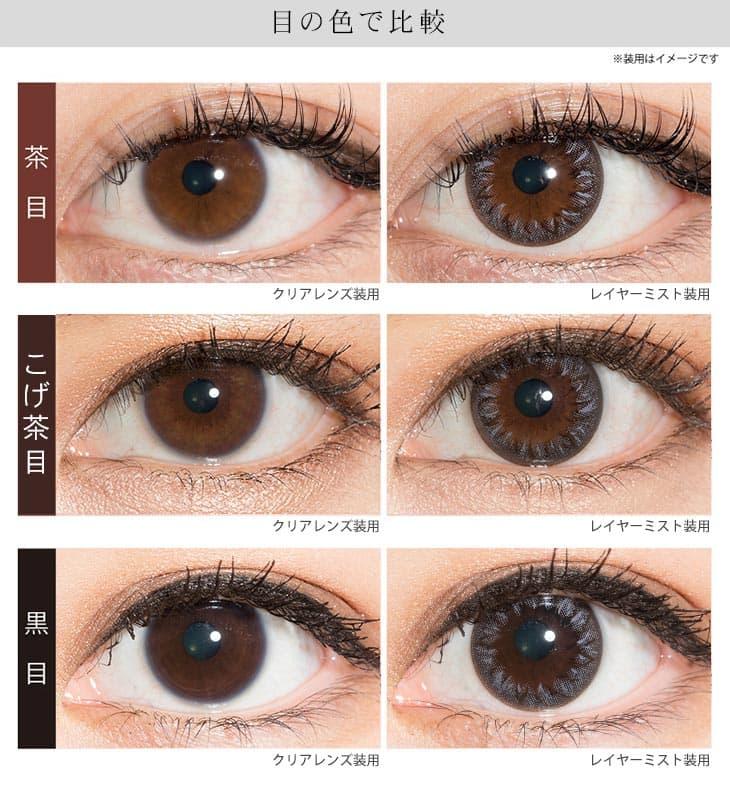 レイヤーミスト | 瞳の色で比較