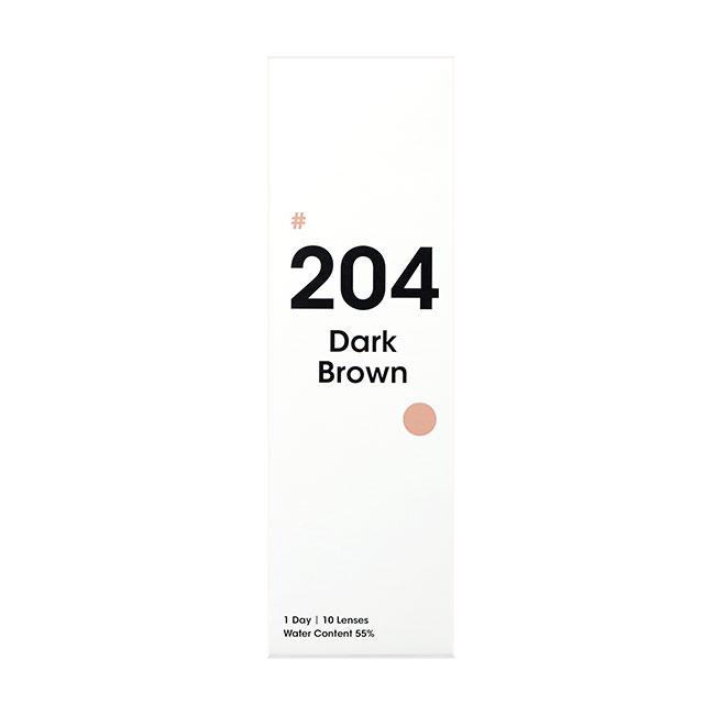 カラーレンズ 204ダークブラウン(4)