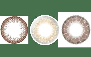 三種類のカラコン