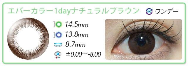 エバカラナチュラルブラウン14.5mm