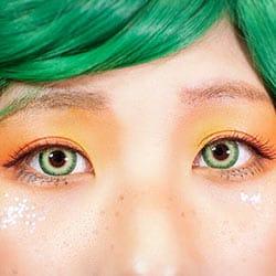 ホラー感のあるグリーングラデーション発色